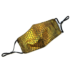 Face Mask 404 Scales Mask gold