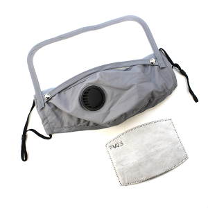 Face Mask 383 Vent Mask Detachable Shield with filter gray
