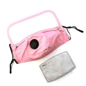 Face Mask 386 Vent Mask Detachable Shield with filter pink