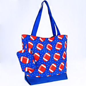 luggage 0317 tote football royal blue