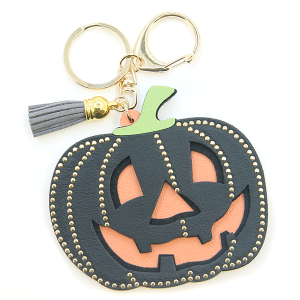 Keychain 034a GG pumpkin halloween keychain black