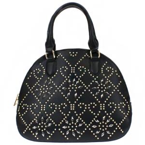 ih 81011 handbag floral embellishment black