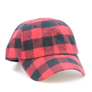 Cap 023g 30 KBEthos plaid flannel hat red
