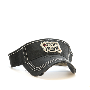 Cap 018q 30 KBEthos dog mom visor dark gray