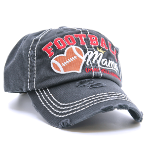 Cap 182a 30 KBEthos Distressed Football Mama black