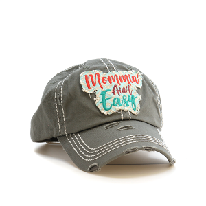Cap 108h 30 KBEthos Mommin aint easy distressed hat light gray