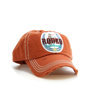 Cap 146 30 KBEthos rodeo sweetheart distressed hat burned orange