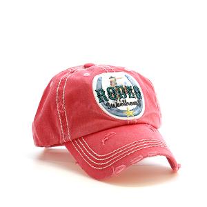 Cap 143 30 KBEthos rodeo sweetheart distressed hat coral