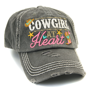 Cap 166a 30 KBEthos Cowgirl at Heart hat dark gray