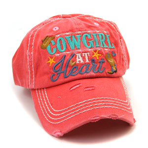 Cap 172f 30 KBEthos Cowgirl at Heart hat pink