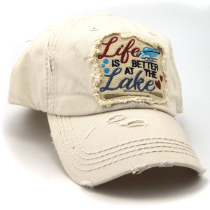 Cap 084k 30 KBEthos distressed hat life is better at the lake