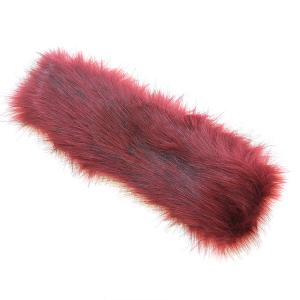 Headband 202a 27 Jennifer faux fur headband burgundy