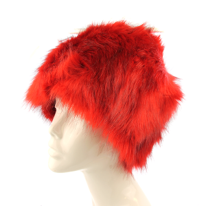 Winter Cap 334 27 Jennifer faux fur cap red