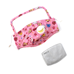 Kids Face Mask 027b Shield Mask Vent with filter bear heart