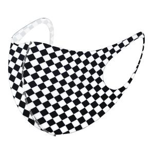 Face Mask 001 checkered mask plaid black white