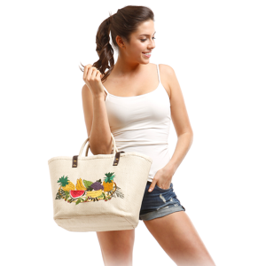LOF LOA112 Tote Fruit Straw
