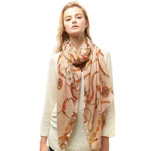 Scarf 005a 04 LOF ligh belt pattern scarf beige
