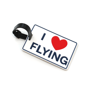Luggage Tag 053 i love flying heart