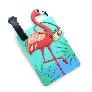 luggage tag 016c 34 flamingo camera