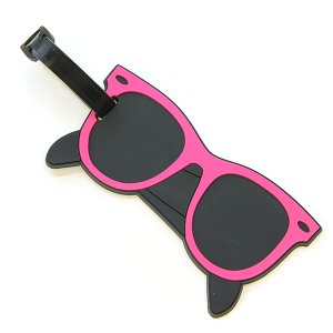 Luggage Tag 075 34 Sunglasses Pink