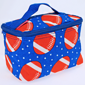 luggage 1007 cosmetic pouch football royal blue