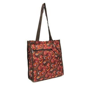 luggage 3013 tote AK circles brown 5007