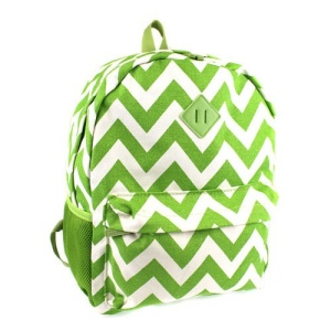 luggage 3016 canvas backpack chevron green