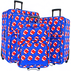 luggage 3pc football royal blue