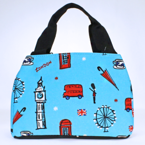 luggage 8010 lunch box London light blue multi
