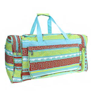 luggage D22 16 duffle bag greek key turquoise
