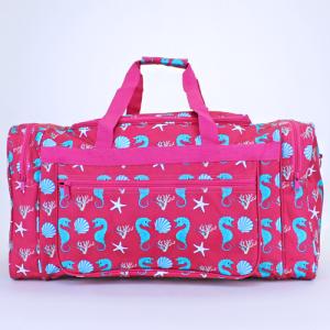 luggage ND22 32 duffle bag sea horse fuchsia turquoise