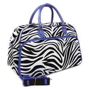 luggage YH f 2014 163  travel duffle bag zebra purple