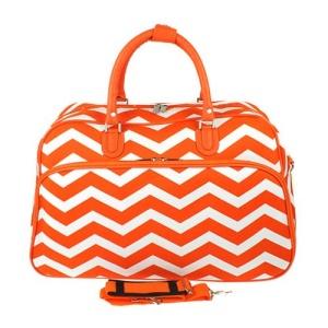 luggage YH f 2014 165 travel duffle bag chevron orange