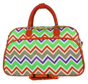 luggage YH f 2014 171 travel duffle bag chevron multi ORANGE