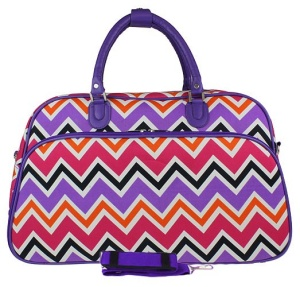 luggage YH f 2014 172 travel duffle bag chevron multi PURPLE
