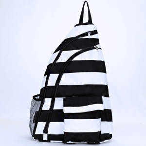 luggage ak NBB 23 shoulder bag nautical stripe black white
