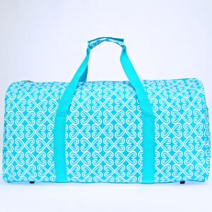 luggage ak NDN 17 round duffle bag twist turquoise white