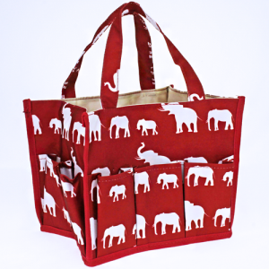 luggage ak NHY009 E organizer bag simple elephant maroon white