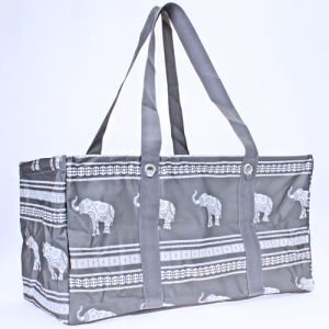luggage ak NU ELE large trunk organizer boho elephant gray white