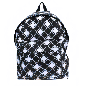 luggage ak backpack b 8 15 quatrefoil black white