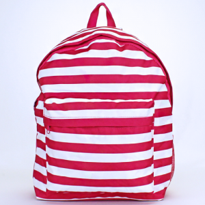 luggage ak backpack b 8 23 nautical stripe fuchsia white