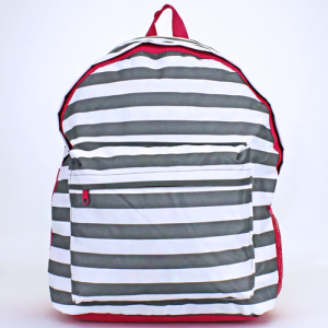 luggage ak backpack b 8 23 nautical stripe gray white fuchsia