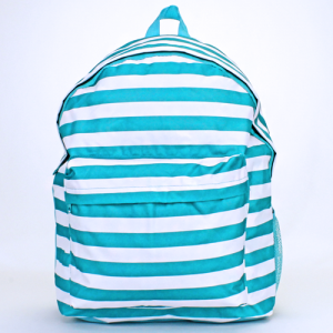 luggage ak backpack b 8 23 nautical stripe turquoise white