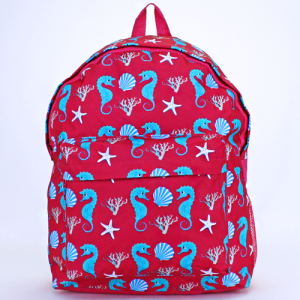 luggage ak backpack b 8 32 sea horse fuchsia turquoise