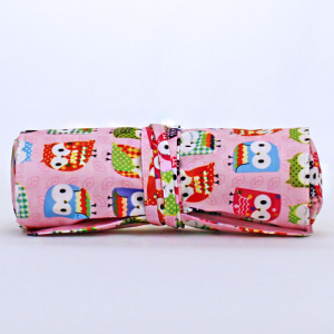 luggage ak hy 008 401 roll up brush bag owl light pink