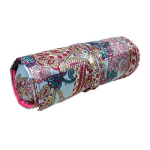 luggage ak hy 011 509 roll up jewelry bag pink paisley