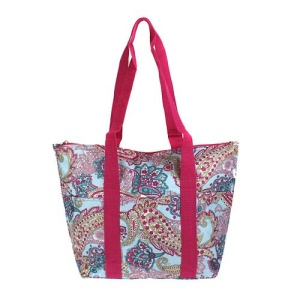 luggage ak lunch bag C15 509 paisley blue pink