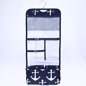 luggage ak ncb25 A NW hanging cosmetic case simple anchor navy blue white