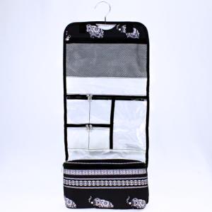 luggage ak ncb25 ELE BW hanging cosmetic case boho elephant black white