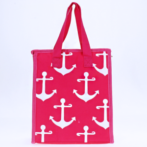 luggage ak ncc18 a P lunch box simple anchor fuchsia white